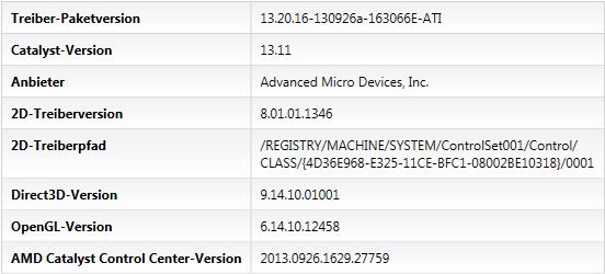 Catalyst 13.11 Beta 1 - CCC-Softwareinfo