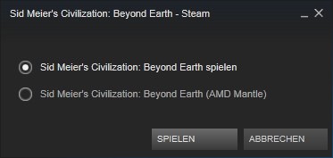 Civilization: Beyond Earth - Mantle-Auswahl