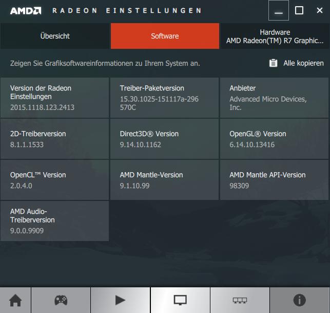 Radeon Software Crimson Edition 15.11 Info