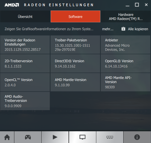 AMD Radeon Software Crimson 15.11.1 Beta Softwareinfo