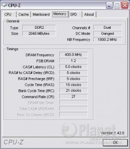 CPU-Z Phenom 9500: Memory