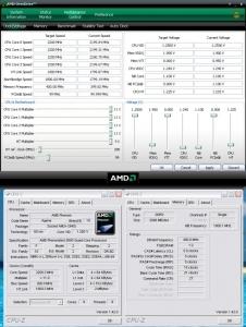Beispielscreenshot Berechnung Speichertakt AMD Phenom