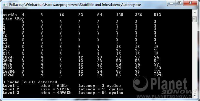 CPU-Z Latency AMD Phenom II X6 1075T DDR3-1066