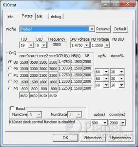 P-States AMD Phenom II X6 1075T