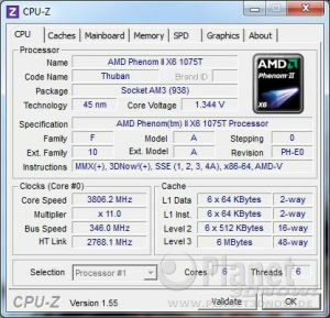 AMD Phenom II X6 1075T - Overclocking Referenztakt
