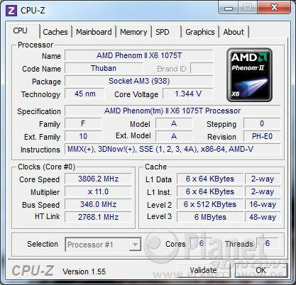 AMD Phenom II X6 1075T - Overclocking Referenztakt