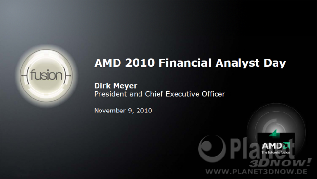 AMD 2010 Financial Analyst Day - Dirk Meyer