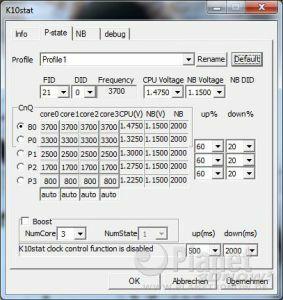 P-States AMD Phenom II X6 1100T