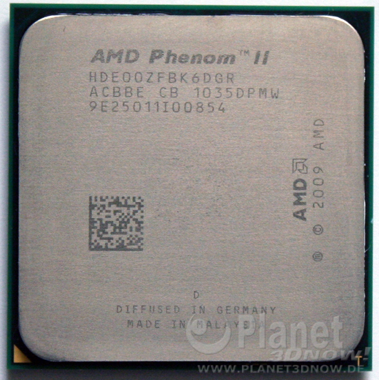 Foto des Prozessors AMD Phenom II X6 1100T