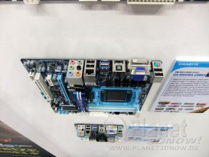 Gigabyte Mainboards auf der CeBIT 2011