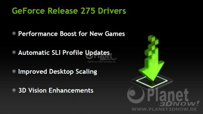 NVIDIA GeForce Release 275 Drivers