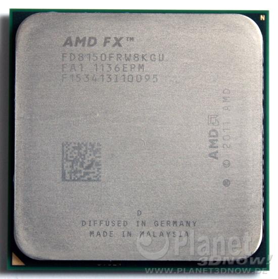 Foto des Prozessors AMD FX - Codename Bulldozer