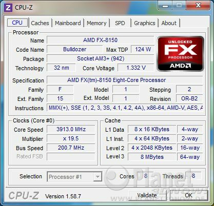 CPU-Z CPU AMD FX - Codename Bulldozer