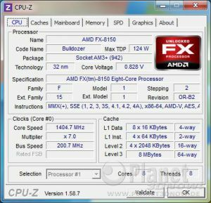 CPU-Z CPU AMD FX - Codename Bulldozer