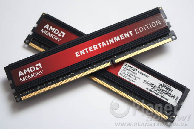 Foto AMD Memory Entertainment Edition