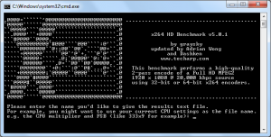x264 HD Benchmark 5.0.1