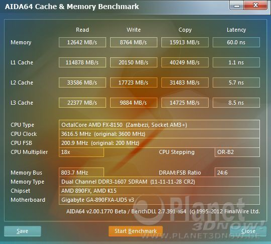 Gigabyte GA-890FXA-UD5 Revision 3.0 mit AMD FX-8150