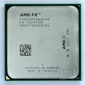 Foto des Prozessors AMD FX - Codename Vishera