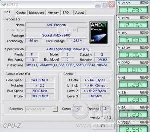 Cool'n'Quiet ASUS Crosshair II Formula - Phenom load