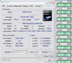 Cool'n'Quiet ASUS Crosshair II Formula - Phenom idle