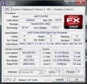 CPU-Z CPU AMD Vishera