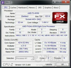 CPU-Z CPU Turbo-Modus AMD Vishera