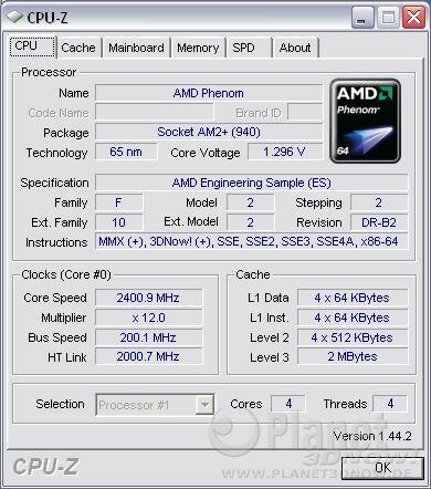 Cool'n'Quiet ECS A780GM-A - Phenom load