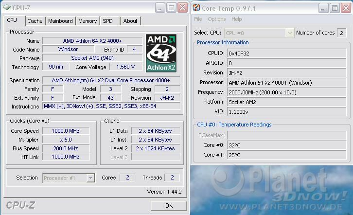 Cool'n'Quiet ECS GF8200A - X2 idle