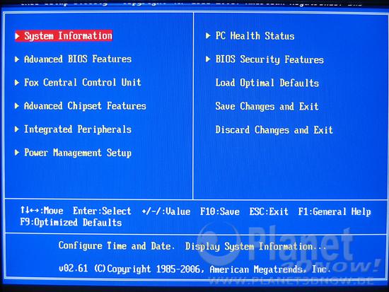 Bild zum BIOS Foxconn A7DA-S