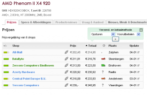 Preise Phenom II X4 940 und Phenom II X4 920 Niederlande