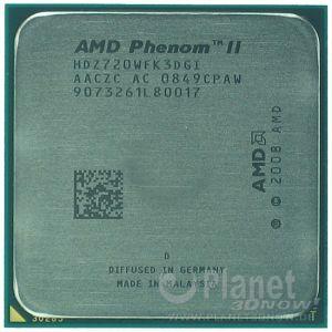 AMD Phenom II Deneb AM3 - Foto des Prozessors X3 720