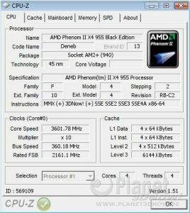 AMD Phenom II X4 955 BE - Overclocking AM2+