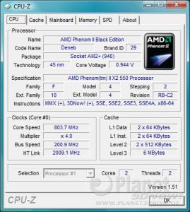 CPU-Z CPU X2 550 BE