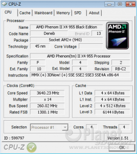 ECS A790GXM-AD3: OC-Ergebnis