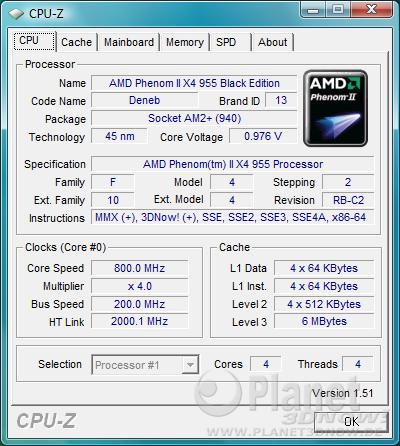Cool'n'Quiet ECS A790GXM-AD3 - Idle