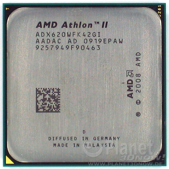 Foto des Prozessors AMD Athlon II X4 620