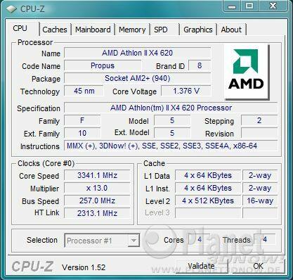 AMD Athlon II X4 620 - Overclocking bei Standardspannung