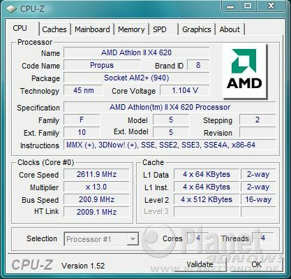 AMD Athlon II X4 620 - Spannungsabsenkung bei Standardtakt