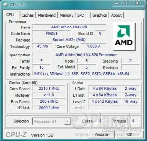 AMD Athlon II X4 620 - Spannungsabsenkung bei 2.200 MHz (Simulation X4 600e)