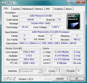 AMD Phenom II X4 965 BE C3 - Overclocking bei Standardspannung