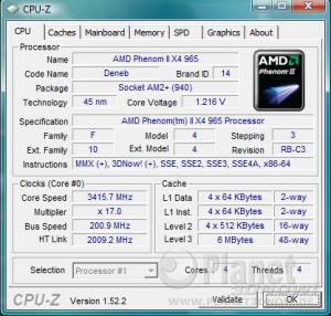 AMD Phenom II X4 965 BE C3 - Spannungsabsenkung bei Standardtakt