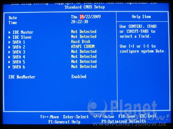 Bild zum BIOS ECS A785GM-M