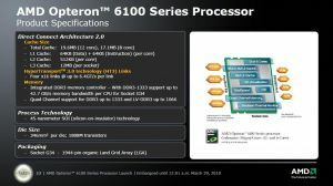 Launch Opteron 6100 Serie alias Magny-Cours