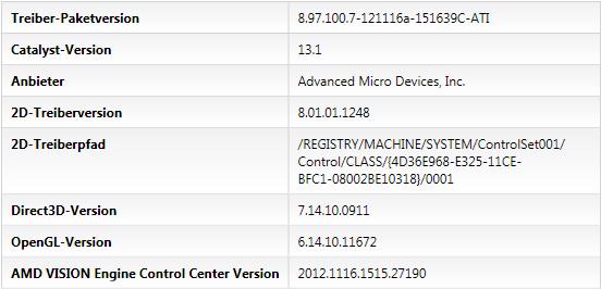 AMD Catalyst 13.1 Legacy - CCC/VECC-Info