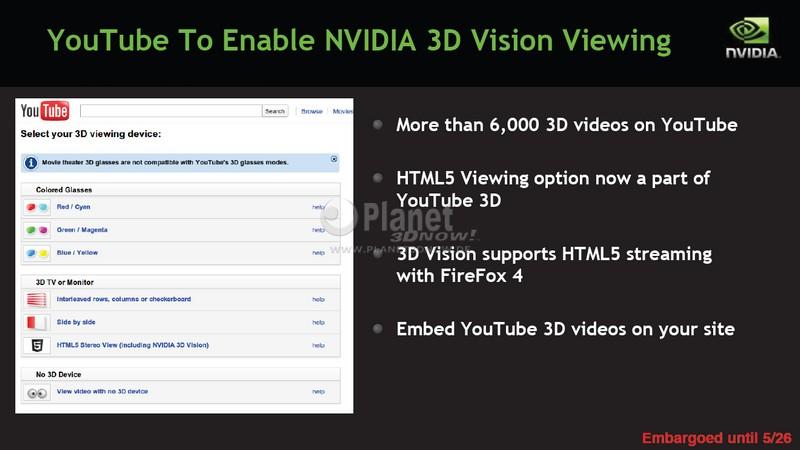 NVIDIA 3D VISION auf YouTube