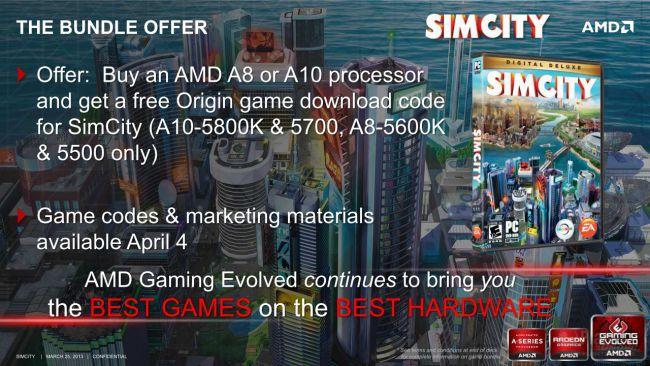 AMD SimCity-Promo für A10- & A8-APUs