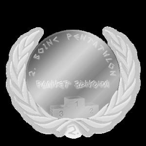 Silbermedaille Gesamtwertung BOINC-Pentathlon