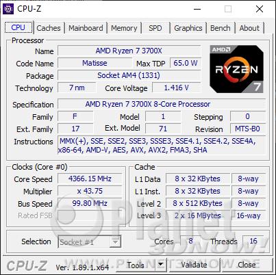 AMD Ryzen 9 3700X im Detail - CPU-Z
