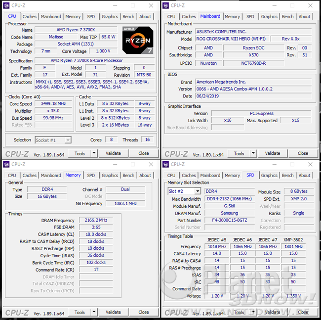 AMD Ryzen 7 3700X: DDR4-4333 Dual-Channel