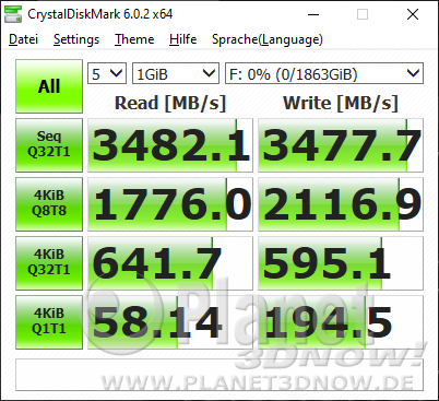 SSD-Benchmarks: CrystalDiskMark